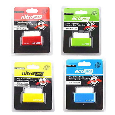 Nitro OBD2 Performance Chip Tuning Box Interface For Petrol /diesel  Plug Drive