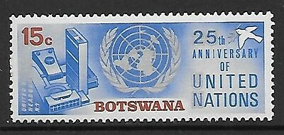 Botswana Sg270 1970 United Nations Mnh