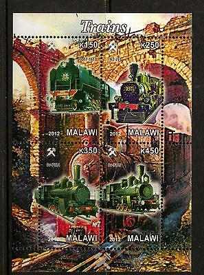 Malawi 2012 Trains Sheetlet (No1) Mnh