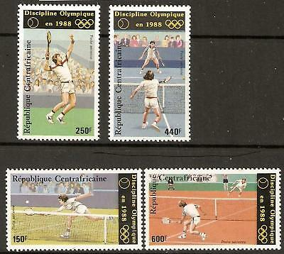 Central African Republic 1986 Olympics/tennis Mnh