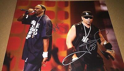Snoop Doggy Dogg & Ice T Rapper Hand Signed 11x14 Photo Autographed W/COA