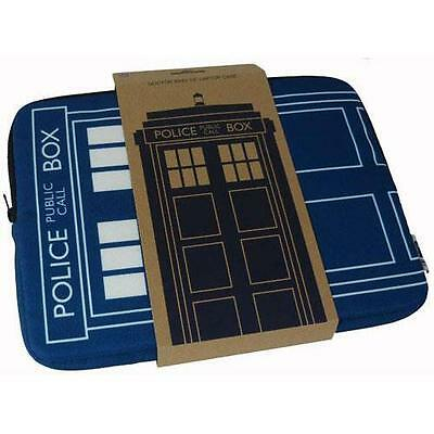 Dr Who - Tardis Police Box 15 Inch Zip Up Laptop Bag - New & Official BBC