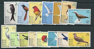 British Indian Ocean Terr Sg62/76 1975 Birds   Mnh