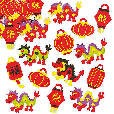 Chinese New Year Stickers for Children to Decorate Cards and Crafts(Pack of 100)