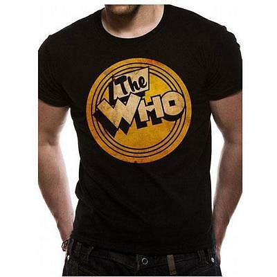 The Who - 45 rpm Mens Short Sleeve Black Cotton T-Shirt - New & Official