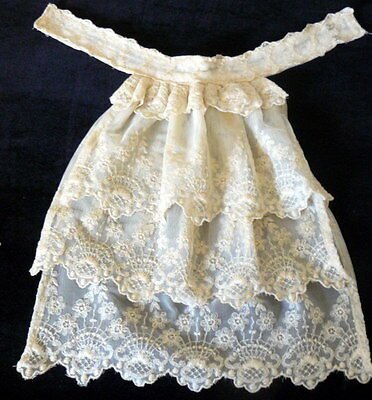 VINTAGE Antique Edwardian Lace Tiered Bib LACE Dickie Collar