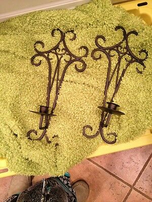 Mid Century Wrought Iron Wall Candle Sconces Beautiful 1960S For Your Wine Bar