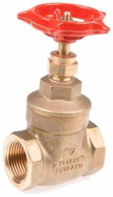 """Pegler 3/4"""" Gate Valve, Solid Brass Wedge, Central Heating, Stop Valve 22mm Pipe"""
