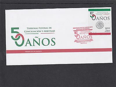 Mexico 2013 Federal Conciliation & Arbitration Tribunal First Day Cover FDC