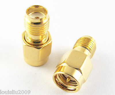 100pcs Gold SMA Female Jack to Male Plug RF Adapter Coaxial Connector