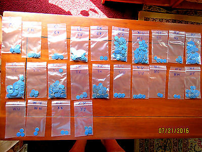 40 Tokens With At Least 35 Different Blue And Red Point High Grade Opa Tokens