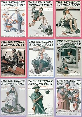 Norman Rockwell 2 1995 Comic Images Complete Base Card Set Of 90 Fa
