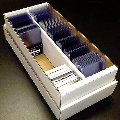 09d0b48ec53 BCW 1600 Card Shoebox Cardboard Storage Box with 400 Card Toploaders and  Sleeves