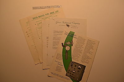 #J113 GREEN INSTRUMENT CO Engraver Pantograph Hardness Tester Catalog Price List