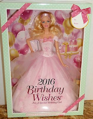 2016 Birthday Wishes Barbie/collector/mint/new/nrfb/free Shipping In The Usa