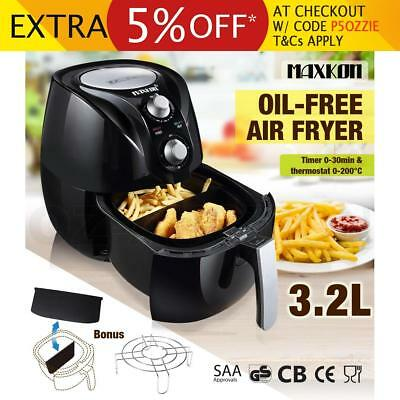 3.2L Deep Air Fryer Kitchen Healthy Rapid Cooker Low Fat Oil Free with Alarm BK