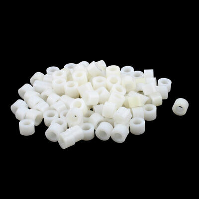 100 Pcs ABS Cylinder LED Spacer Holder Support M4.2 x 5mm Off-White