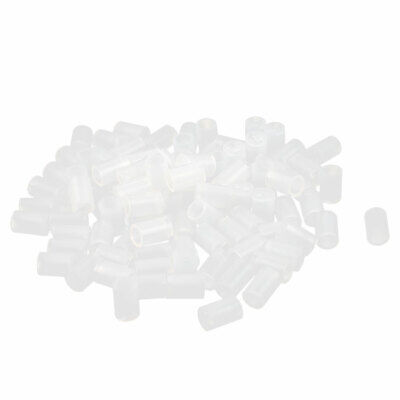100 Pcs Nylon Cylinder LED Spacer Holder Support 3mm x 6mm Clear