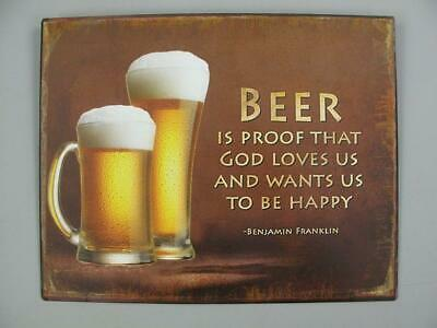 Beer Is Than Therapy Cheaper G3545 Nostalgie Blechschild Wandschild 30x30