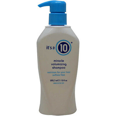 Miracle Volumizing Shampoo (Sulfate free) by It's A 10 for Unisex - 10oz Shampoo