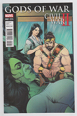 Civil War II: Gods of War #2 Torque Variant Marvel Comics She-Hulk Hercules