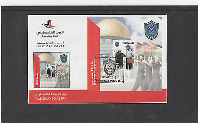 Palestine 2013  Police MS minature sheet Day First Day Cover FDC