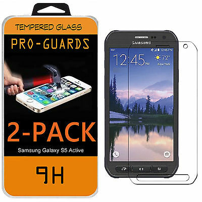 2-PACK Premium Tempered Glass Screen Protector Film for Samsung Galaxy S6 Active