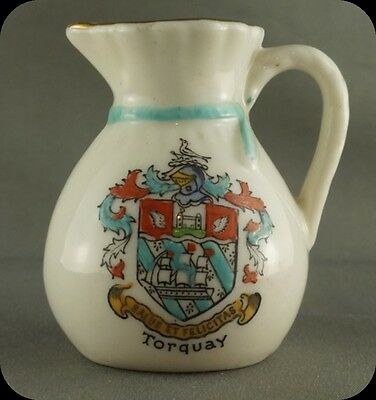 Vintage Crestware  Torquay miniature pitcher Figurine Willow Art  Crest Ware