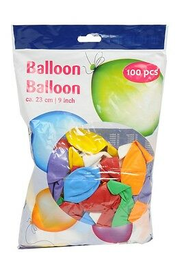 Lot de 100 Ballons MULTICOLORE - Baudruche 23cm Decoration Anniversaire Port 0€
