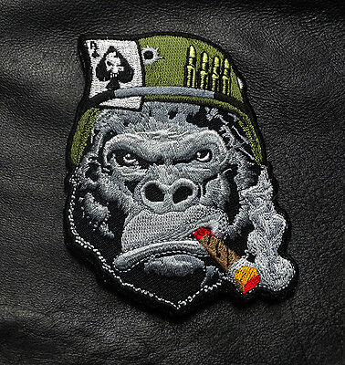 Ape Cigar Ace Card Bullets Tactical Ape Morale Hook Loop Patch