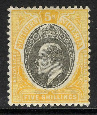 Southern Nigeria Sg18 1903 5/= Grey-Black & Yellow Mtd Mint