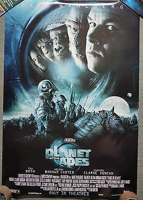 Planet of the Apes (2001) Advance US Double sided promo poster