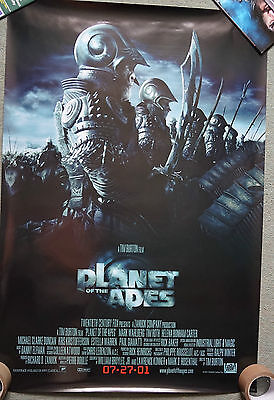 Planet of the Apes (2001) Regular US Double sided promo poster