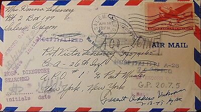 WWII Rerouted Cover MIA POW SOLDIER Missing Action LOVING WIFE Heartbreak 1945