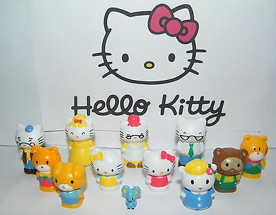 Hello Kitty Figure Set of 12 fun figures with Hello Kitty, Mimmy, Mama and More