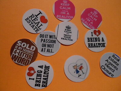 Pre Cut One Inch Bottle Cap Images REAL ESTATE REALTOR Free Shipping