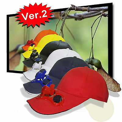 Elecrtronic Ver.2 solar powered Hat--Solar Fan Cap with Battery Attached