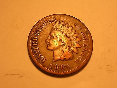 1884 Indian Head Cent  (Fine & Attractive)