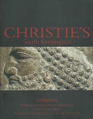 CHRISTIE'S ANTIQUITIES Daunian Pottery Seal Gems Intaglio Jewels Coll Catalog 03
