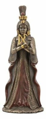 """Ancient Egyptian Queen Cleopatra Statue Goddess Isis Decorative Figurine 12""""H"""