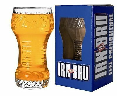 3 x LIMITED EDITION BARR IRN BRU DRINKING GLASS. NEW AND BOXED FOR GIFTS