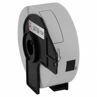 6 Rolls DK-1201 Brother-Compatible Labels BPA FREE & 1 Reusable Cartridge