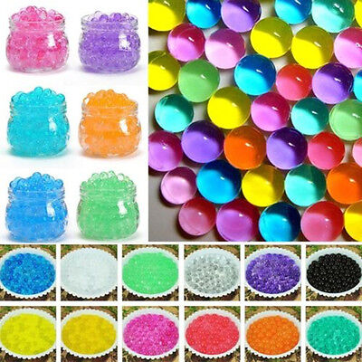 500X Colorful Balls Absorb Water Plants Soil Mud Hydro Gel Beads DIY Home Decor