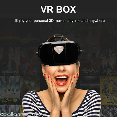 3D VR BOX Glasses Headset Head-mounted for 4.0~6.0  Android/iPhone Smartphone AU