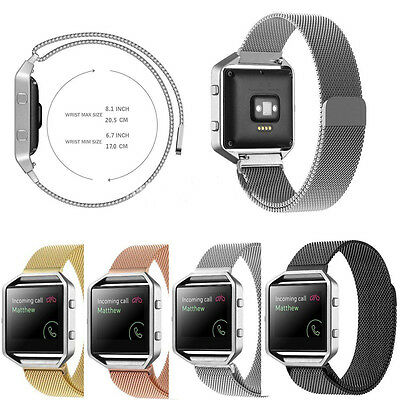 Stainless Steel Band Strap For Fitbit Blaze Smart Watch Milanese Magnetic Loop
