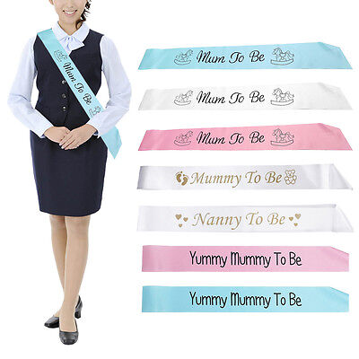 Mummy To Be Decoration Satin Sash Banner Ribbon Baby Shower birthday Party Favor