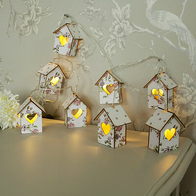 Set of light up floral house fairy lights wedding accessory girl's room lighting
