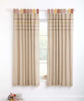 Mamas and Papas zam bee zee - lined tab top curtains (w: 132 x l: 160cm)