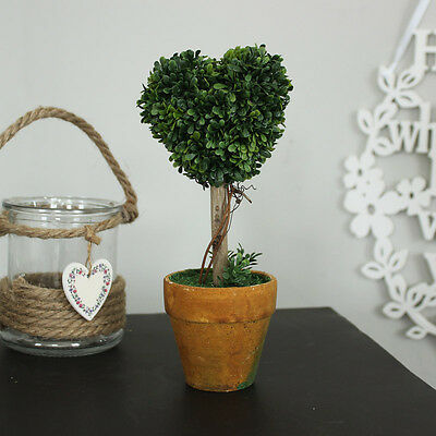 Topiary heart tree wedding accesory table decoration home kitchen shabby vintage