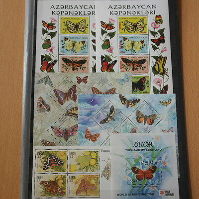 Schmetterlinge, Butterflies - LOT 25 Bl./KB ** MNH